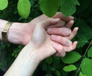 pale, couple, and hands image