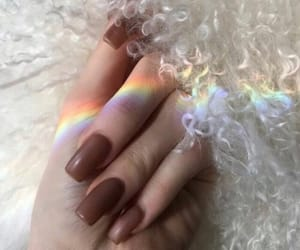 nails, kylie jenner, and rainbow image