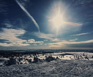mountain, norway, and Skiing image