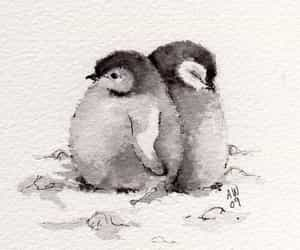 penguin, art, and drawing image