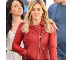 biker jacket, red jacket, and women jacket image