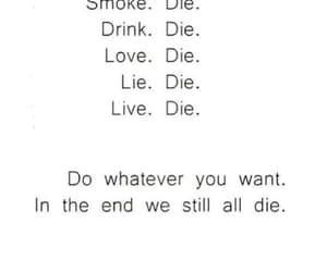 die, love, and smoke image