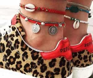 bracelets, fashion, and leopard print image