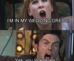 doctor who, donna, and david tennant image