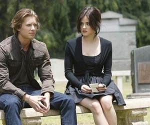 pretty little liars, aria montgomery, and jason dilaurentis image