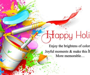 happy, holi, and messages image