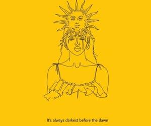 yellow, art, and sun image