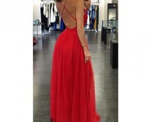 fashion, maxi dress, and Prom image