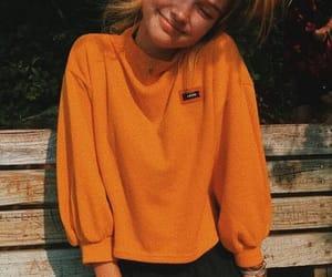 girl, yellow, and orange image