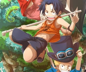 one piece, portgas d. ace, and sabo image