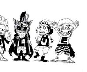 chibi, one piece, and monkey d. luffy image