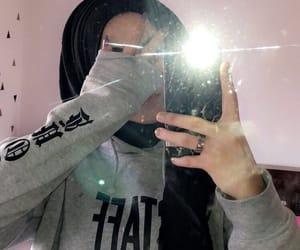 fashion, hijab, and hoodie image