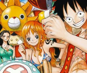 one piece, nico robin, and monkey d. luffy image