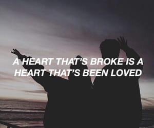 broken heart, flowers, and Lyrics image