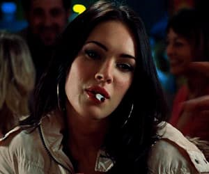 megan fox, gif, and cigarette image