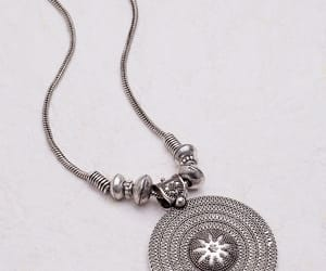 oxidised silver earrings, oxidised silver jewellery, and oxidized silver necklace image