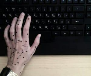 stars, black, and tattoo image