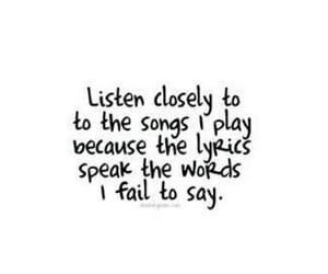 Lyrics, quotes, and music image