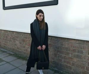 black, classy, and coat image