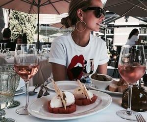 food, girl, and drinks image