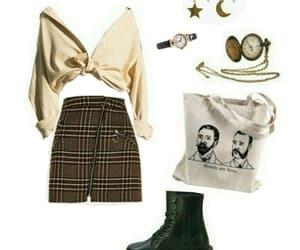 skirt, tote bag, and Polyvore image