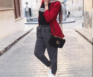 hijab, outfit, and hijâbi image