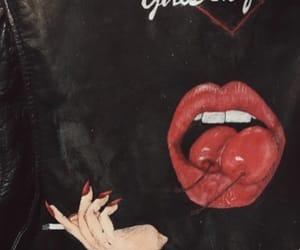 cherry, black, and girl image