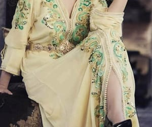 chic, dress, and gold image