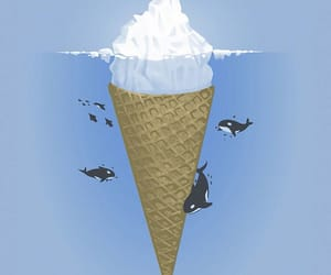 ice cream, whale, and iceberg image