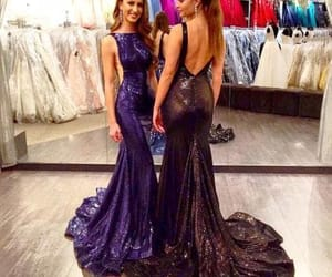 dress, fashion, and sequin prom dress image