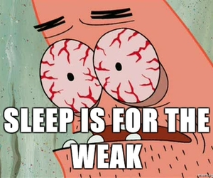 sleep, funny, and patrick image