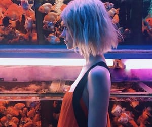 girl, fish, and aesthetic image