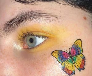 butterfly, yellow, and aesthetic image