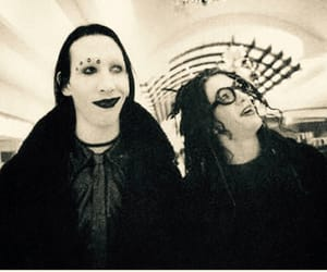 Marilyn Manson and vintage image