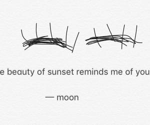 beauty, moon, and poems image