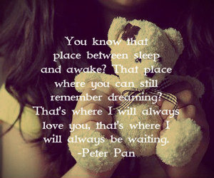 bear, girl, and peter pan image