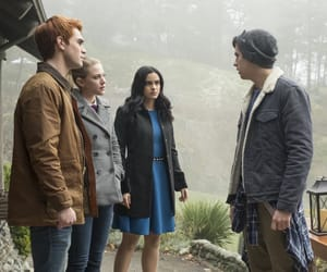cole sprouse, betty cooper, and veronica lodge image