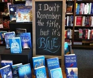book, blue, and funny image