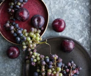 food, grapes, and plum image