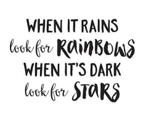 quotes, stars, and rain image