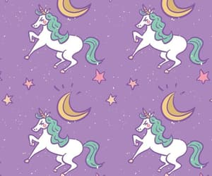 unicorn, stars, and wallpaper image