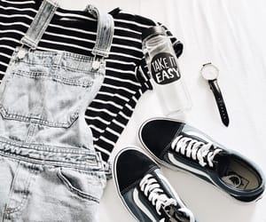 blackandwhite, outfit, and flatlay image