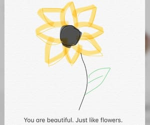 flowers, qoutes, and moon image