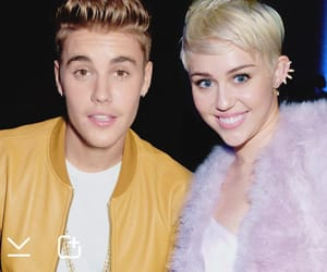 miley cyrus, otp, and justin bieber image
