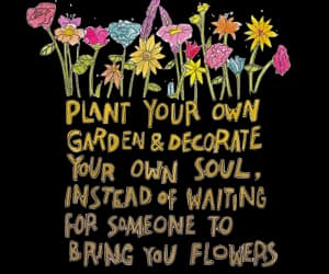 quotes, flowers, and life image