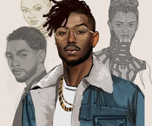 black panther and killmonger image