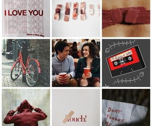 aesthetic, bicycle, and red image