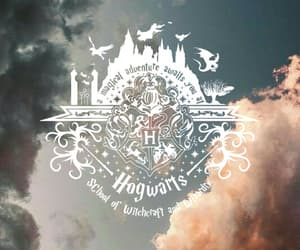 background, clouds, and harry potter image