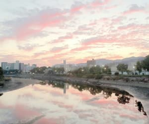 pink, sky, and theme image