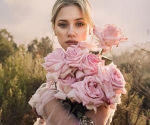 lili reinhart, girl, and flowers image